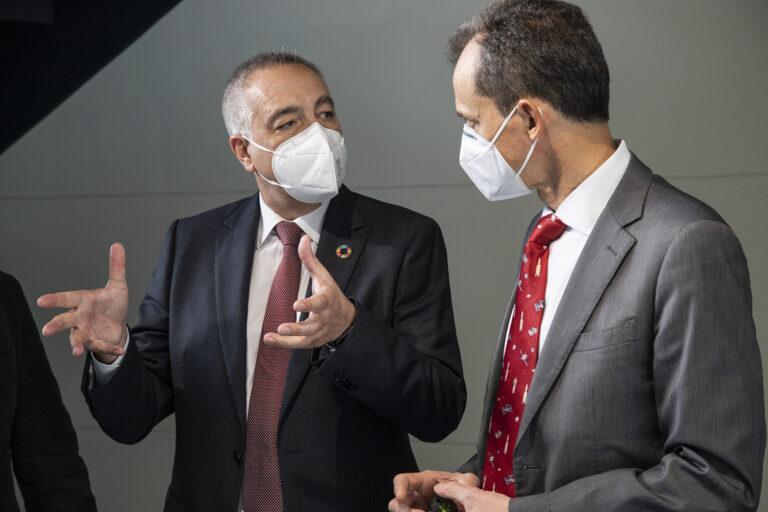 Pere Navarro y Pedro Duque